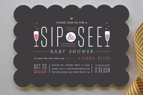 Sip Sip Hooray Baby Shower Invitations