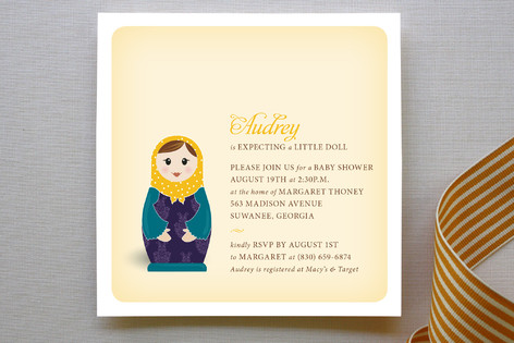 Matryoshka Baby Shower Invitations