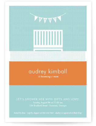 Nifty Nursery Baby Shower Invitations