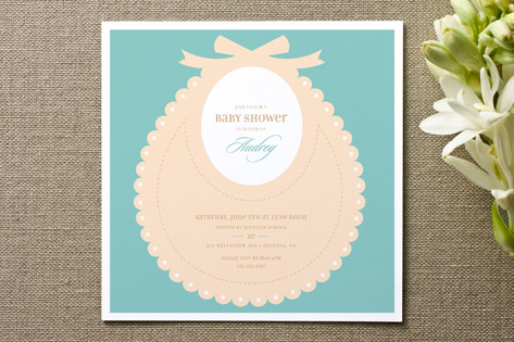 bib baby shower invitations by mandy rider minted