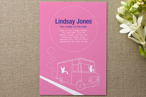 Delivery Baby Shower Invitations