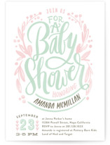 Painterly Script Baby Shower Invitations