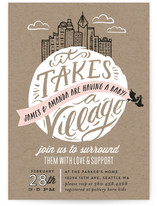 It Takes A Village Baby Shower Invitations