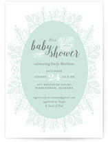 Whimsical Wreath Baby Shower Invitations