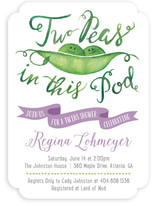Two Peas Twins Baby Shower Invitations