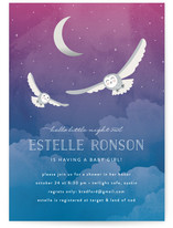 Night Owl Baby Shower Invitations