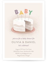 Sweet Baby Cakes Baby Shower Invitations