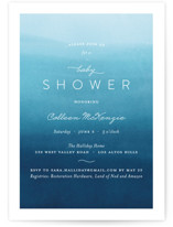 Water Waves Baby Shower Invitations
