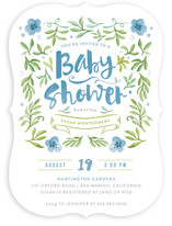 Watercolor Garden Baby Shower Invitations