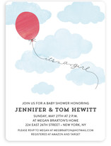 Floating On Air Baby Shower Invitations