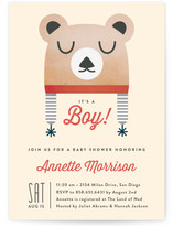 Baby Bear Bonnet Baby Shower Invitations