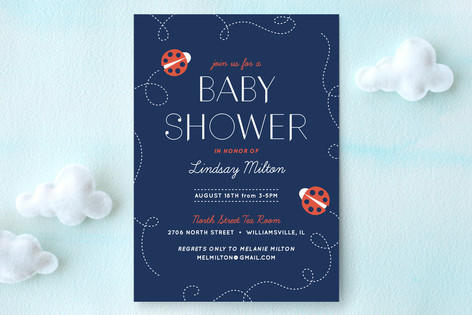 Doodle Bug Baby Shower Invitations