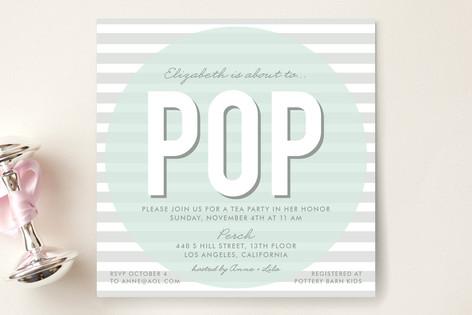Pop Baby Shower Invitations