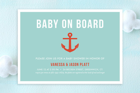 Baby on Board Baby Shower Invitations