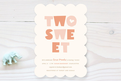 Two Sweet Baby Shower Invitations