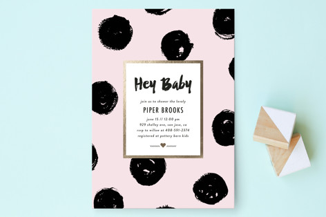Bold Dots Baby Shower Invitations
