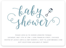 Modern Rattle Baby Shower Invitations