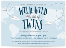The Wild World Of Twins Baby Shower Invitations