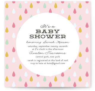 Raindrops Baby Shower Invitations