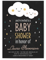 Raindrops Baby Shower Invitations