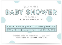 Polka Dot Confetti Baby Shower Invitations