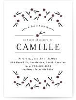 French Linen Baby Shower Invitations