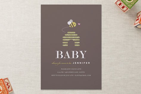 mom to bee Baby Shower Invitations