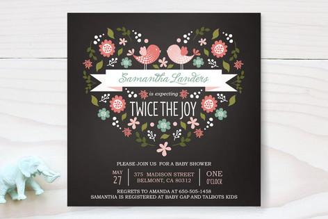 Twice the Joy Baby Shower Invitations