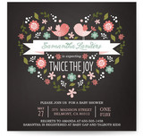 Twice the Joy Baby Shower Invitations