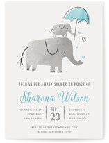 Elephant Love Baby Shower Invitations