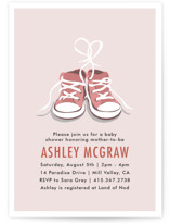 Tiny Sneakers Baby Shower Invitations