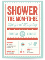 Oh Baby Bold Baby Shower Invitations