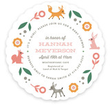 Woodland Romp Baby Shower Invitations