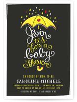 Umbrella Shower Baby Shower Invitations