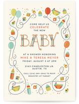 Blocks & Balloons Baby Shower Invitations