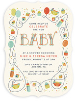Blocks & Balloons Baby Shower Invitations