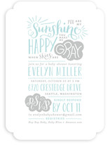 Sunshine Baby Shower Invitations