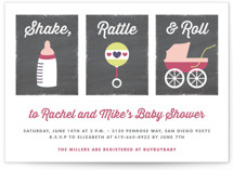 Shake, Rattle & Roll Baby Shower Invitations