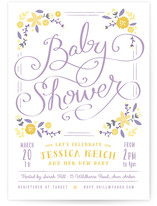 Vintage Garden Baby Shower Invitations