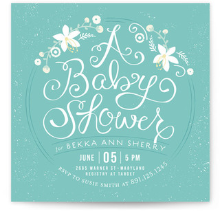 A Baby Shower Baby Shower Invitations