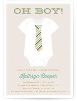 Tied Baby Shower Invitations