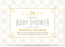 Sweet initial Baby Shower Invitations