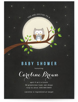 A Little Night Owl Baby Shower Invitations