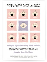 New Parent Guide Baby Shower Invitations