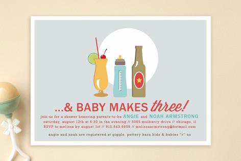 Drinks All Around Baby Shower Invitations