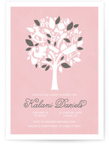 The Baby Tree Baby Shower Invitations