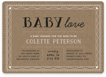 Baby Love Stacked Baby Shower Invitations
