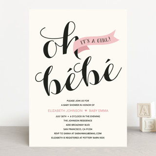 Oh Bebe Baby Shower Invitations