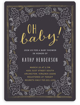 Oh Baby Floral Baby Shower Invitations