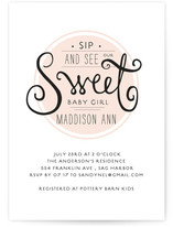 Sweet Token Baby Shower Invitations